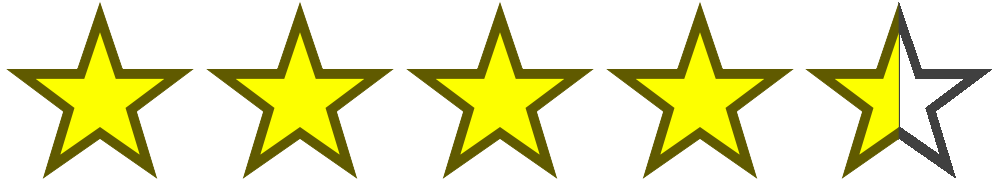Image result for 4 and a half stars png